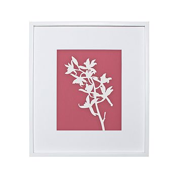 Orchid Botanical Mounted Fine Art Print