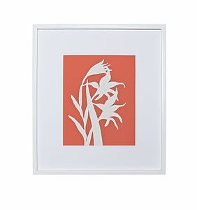 Gladiolus Botanical Mounted Fine Art Print