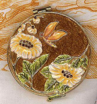 6cm Round Flower Mirror Compact