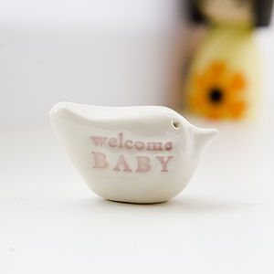 New Baby Gift 'Welcome Baby' Messenger Bird - keepsakes