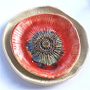 Poppy Inspired Ceramic Stacking Bowls