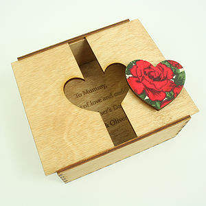 Personalised Wooden Heart Box - view all mother's day gifts