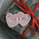 Two Hearts 'You & Me' Magnet
