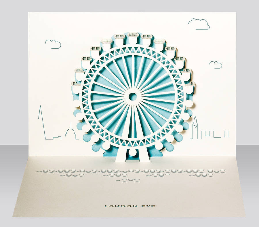 london eye pop up card by paper tango. Black Bedroom Furniture Sets. Home Design Ideas