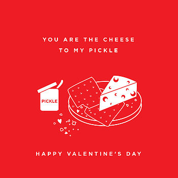 The Perfect Match Pickle Valentine's Card