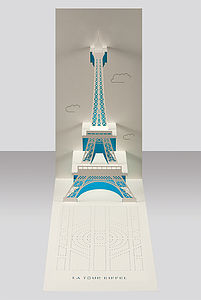 Eiffel Tower Paris Pop Up Card - valentine's cards