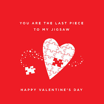 The Perfect Match Jigsaw Valentine's Card