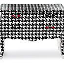 Chequered Two Drawer Chest