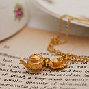 Gold Tea Set Necklace