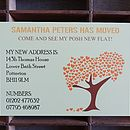 50 Personalised Tree Change Of Address Cards