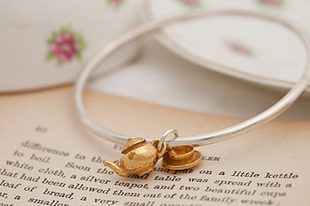 Gold Tea Set Bangle
