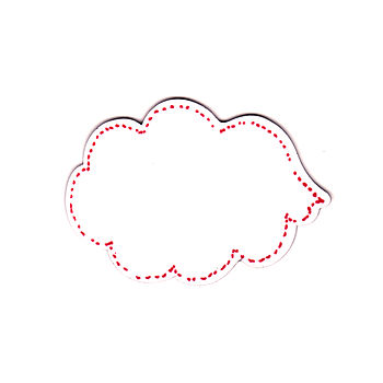 Dry Wipe Speech Bubble Cloud Magnet