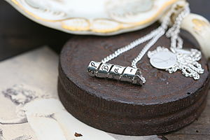 Personalised Petite Open Scroll Necklace - necklaces & pendants