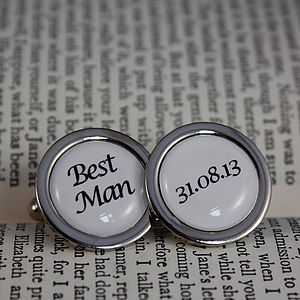 Personalised Wedding Date Cufflinks - jewellery gifts for ushers