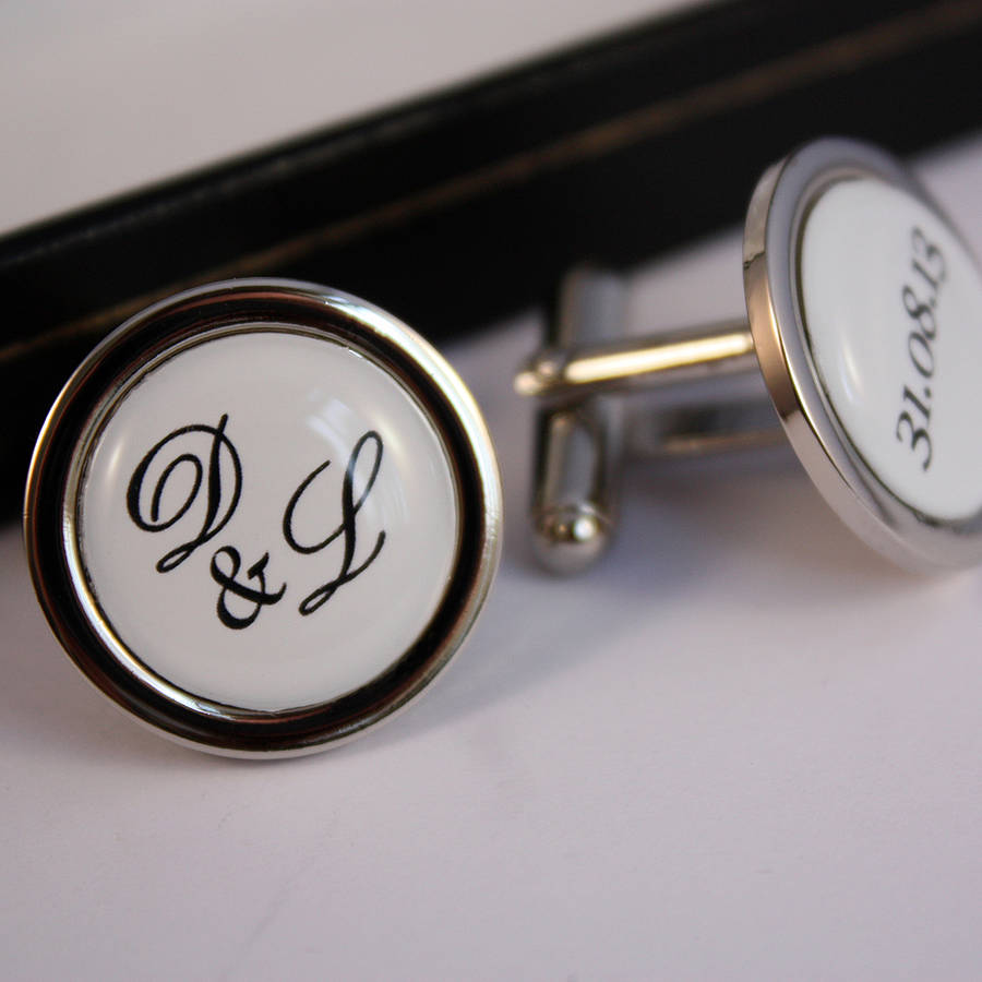 Personalised Wedding Cufflinks By Lily And Louie