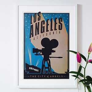 Los Angeles California Retro Travel Print