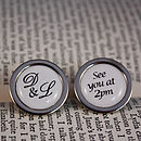 Personalised Wedding Time Cufflinks