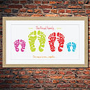 Personalised Family Foot Print