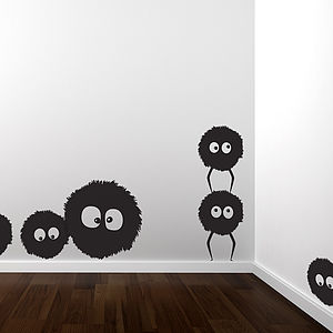 Dust Bunnies Wall Sticker Set - decorative accessories
