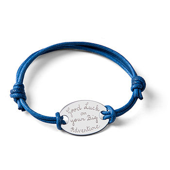 Gap Year Personalised Oval Plate Bracelet