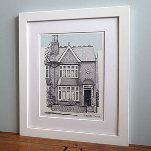 Detailed House Or Venue Illustration - prints & art