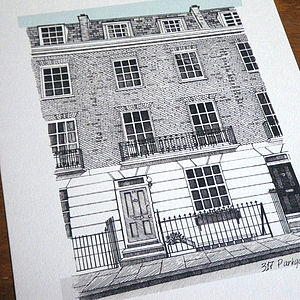Detailed House Or Venue Illustration - posters & prints