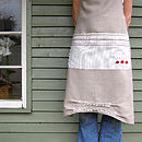 French Style Handmade Linen Apron