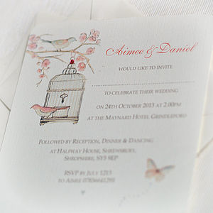 Cherry Blossom Wedding Invitations - wedding stationery