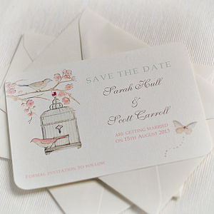 'Cherry Blossom' Save The Date Cards