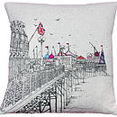The Pier Printed Stitch Cushion Cover