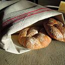 French Style Linen Bread Bag