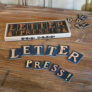 Letter Press Fridge Magnets - kitchen