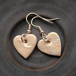 Handmade Heart Dangle Earrings - earrings