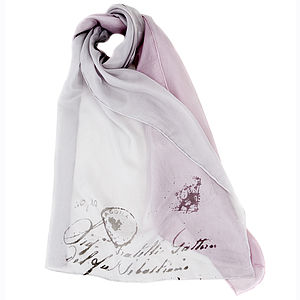 Paris Stamps With Love Silk Scarf