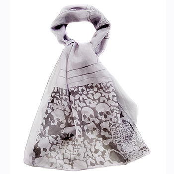 Paris Catacombs Scene Silk Scarf