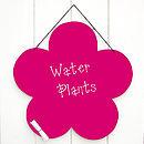 Magenta Flower Chalkboard