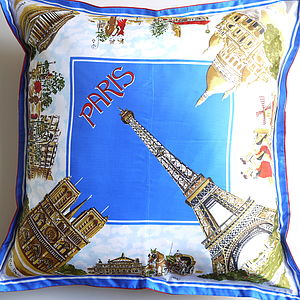 Vintage Paris Souvenir Cushion - furniture