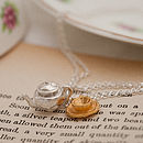 Silver And Gold Tea Set Necklace