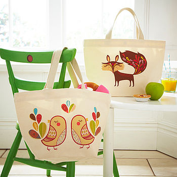 Animal Canvas Lunch Bags