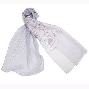 Paris Love Lights Silk Scarf - hats, scarves & gloves