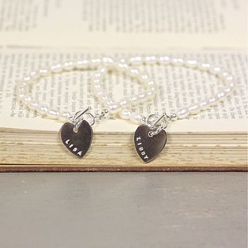 Personalised Freshwater Pearl Bridesmaid Bracelet