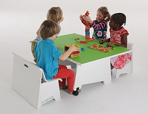 Play Table And Bench Set