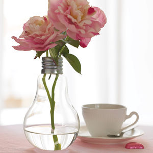 Lightbulb Vase - table decoration