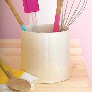 Ceramic Tin Can Style Pot - kitchen storage