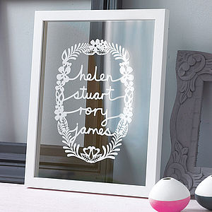 Personalised Family Papercut - gifts for mothers
