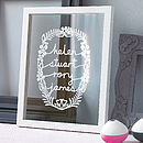 Thumb personalised family papercut