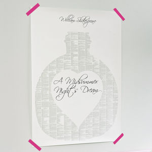 A Book On One Page Print - literary inspired gifts