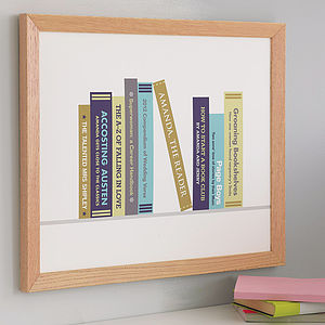 Personalised Bookshelf Print - publishing
