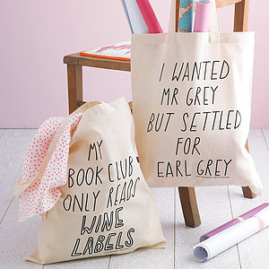 Silly Slogan Tote Bags - birthday gifts