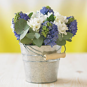 Bucket Of Fresh Spring Flowers - personalised